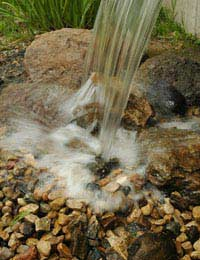 Water features for backyard gardens