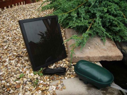 PondKraft Twin Outlet Solar Oxygenator with Battery